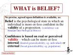 what is belief