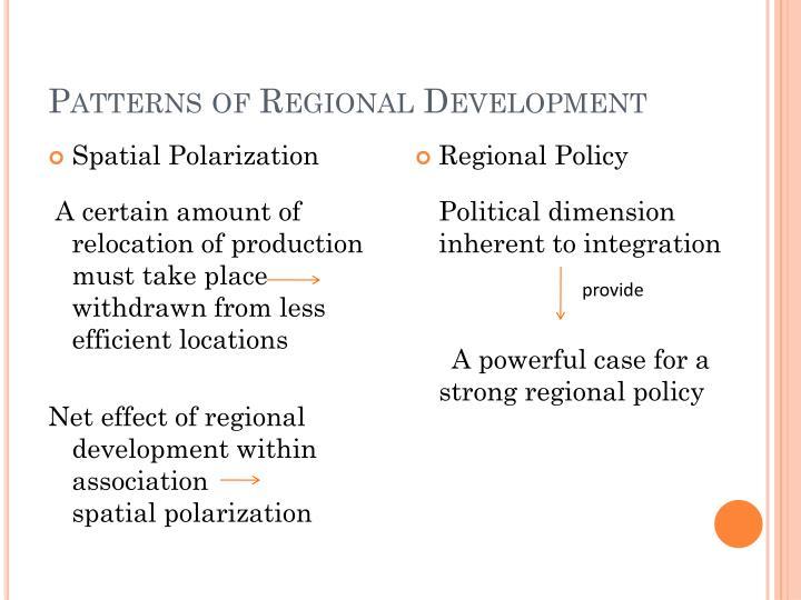 Patterns of Regional Development