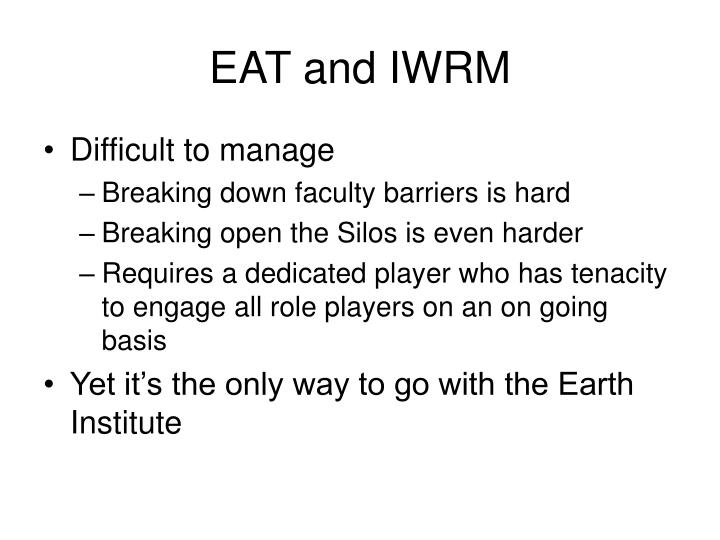 EAT and IWRM