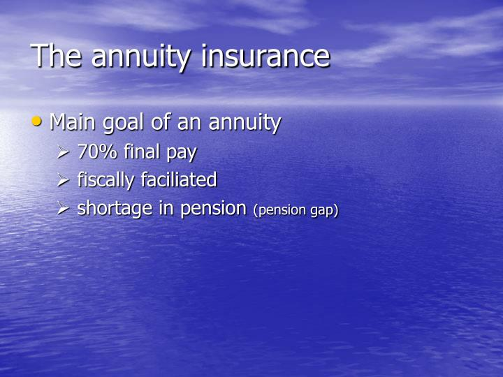 The annuity insurance
