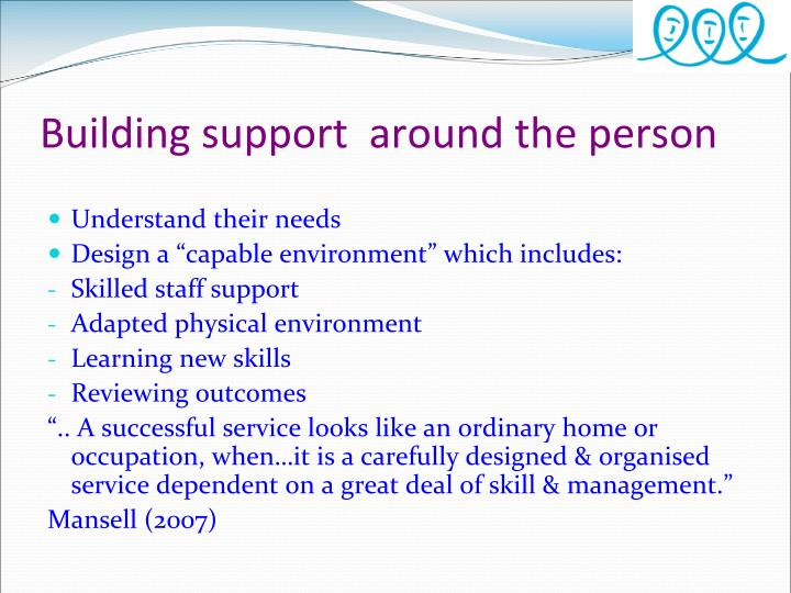 Building support  around the person