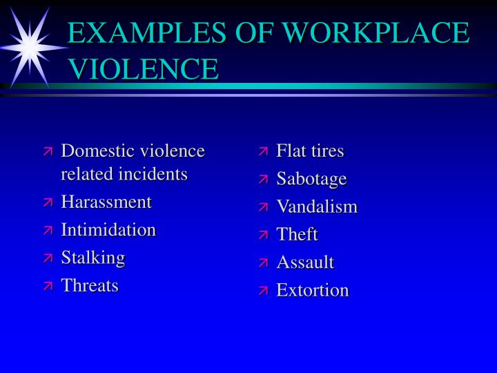 Domestic violence related incidents