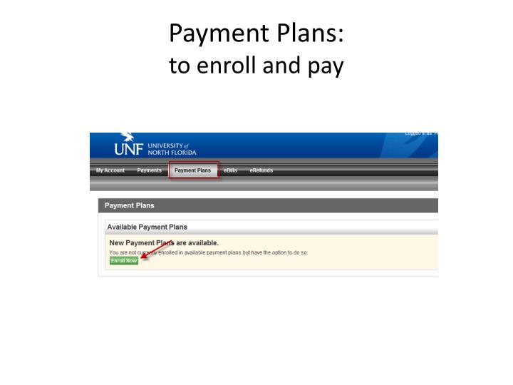 Payment Plans: