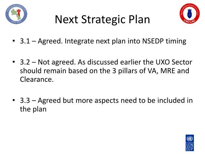 Next Strategic Plan