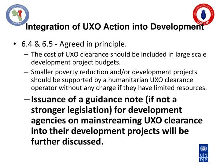 Integration of UXO Action into Development