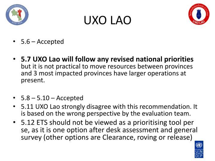 UXO LAO