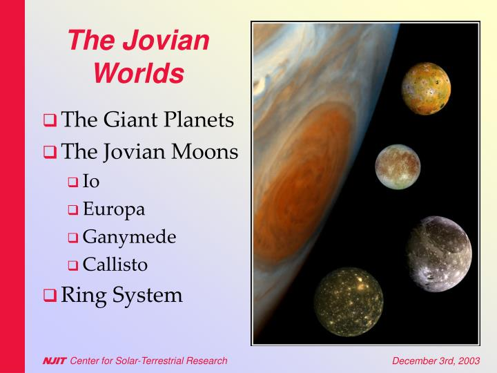 The jovian worlds