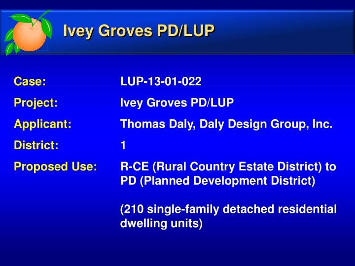 Ivey Groves PD/LUP