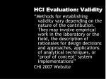 hci evaluation validity