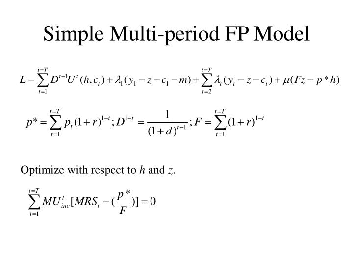 Simple multi period fp model
