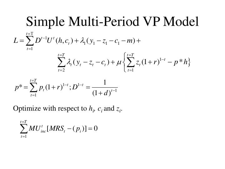 Simple Multi-Period VP Model