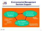 environmental management decision support