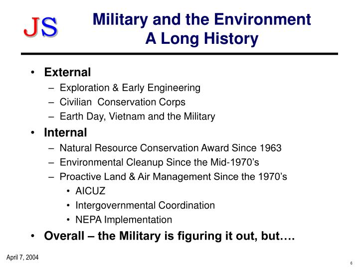 Military and the Environment