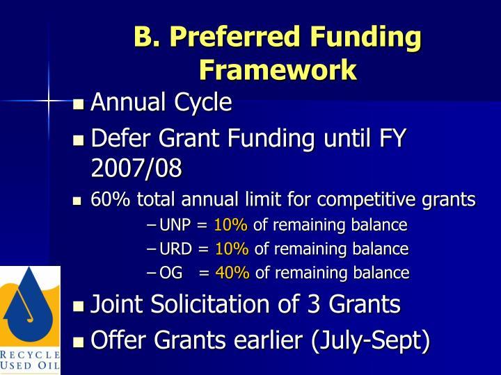 B. Preferred Funding Framework