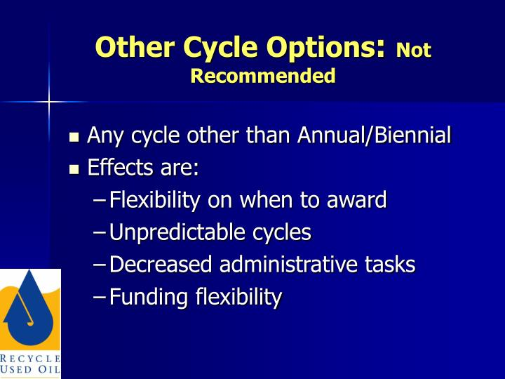 Other Cycle Options