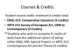 courses credits