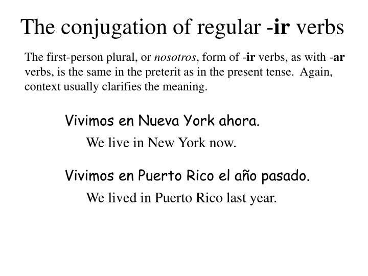 The conjugation of regular -