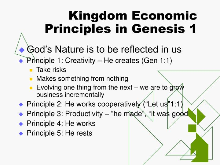 Kingdom Economic Principles in Genesis 1