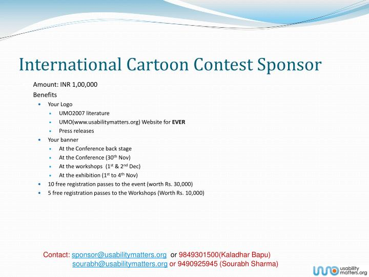 International Cartoon Contest Sponsor