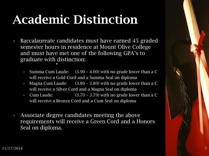 Academic Distinction