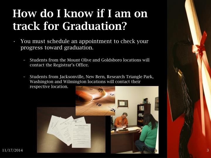 How do I know if I am on track for Graduation?