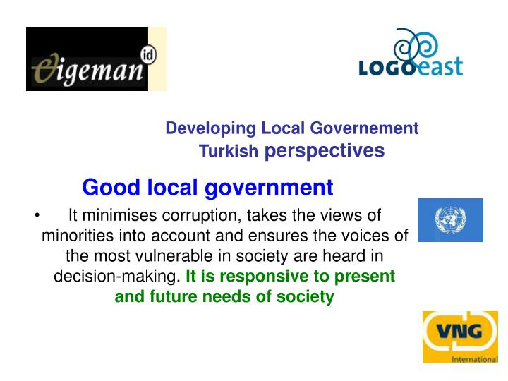 Developing Local Governement