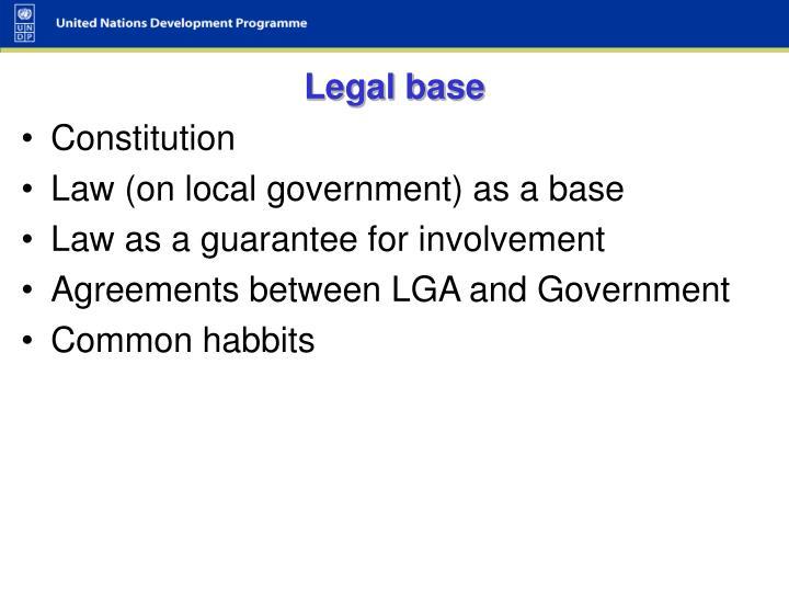 Legal base