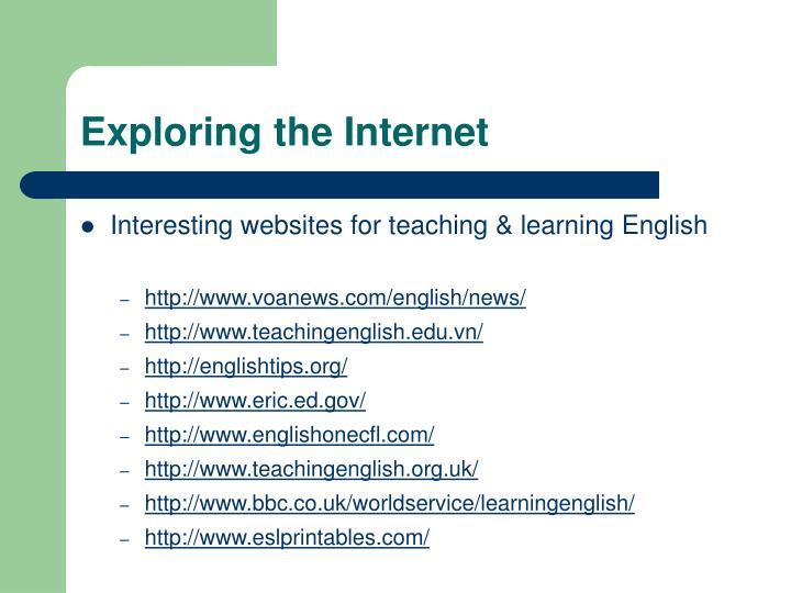 Exploring the Internet