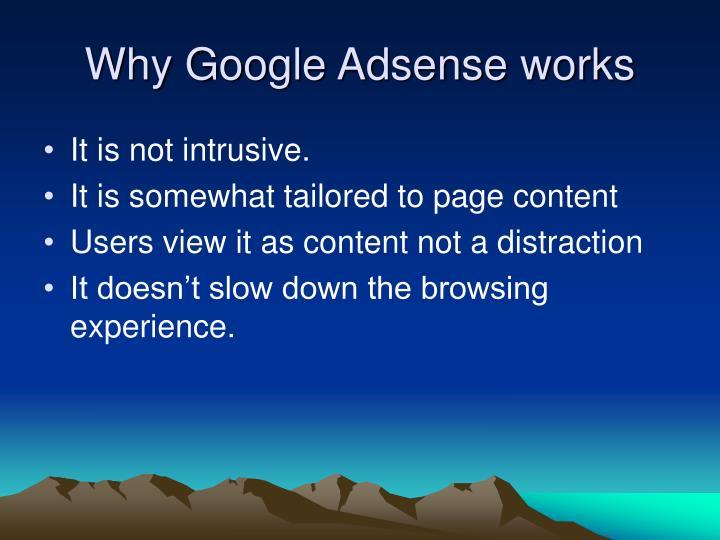 Why Google Adsense works