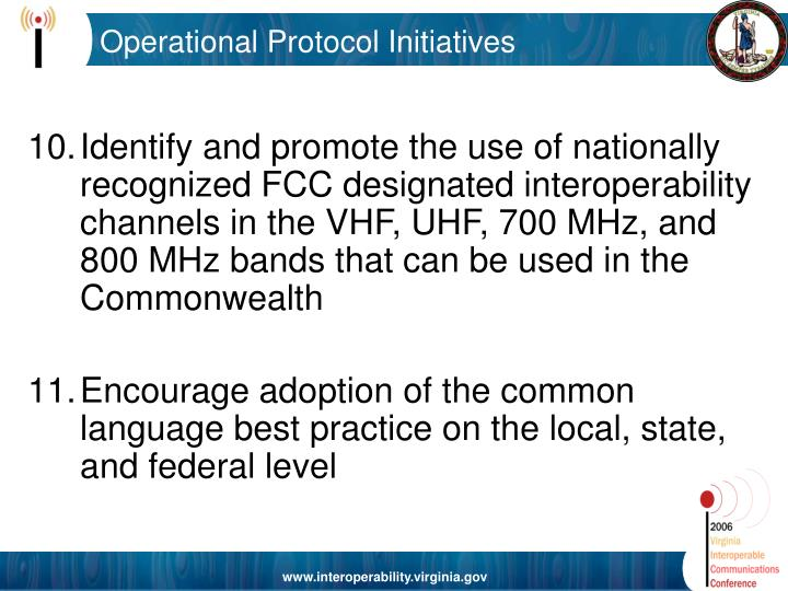 Operational Protocol Initiatives
