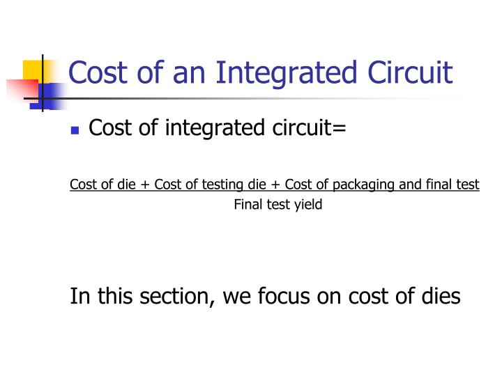 Cost of an Integrated Circuit