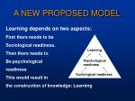 a new proposed model