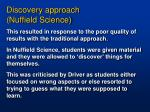 discovery approach nuffield science