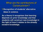 what are the contributions of constructivism