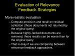 evaluation of relevance feedback strategies1