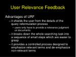 user relevance feedback1