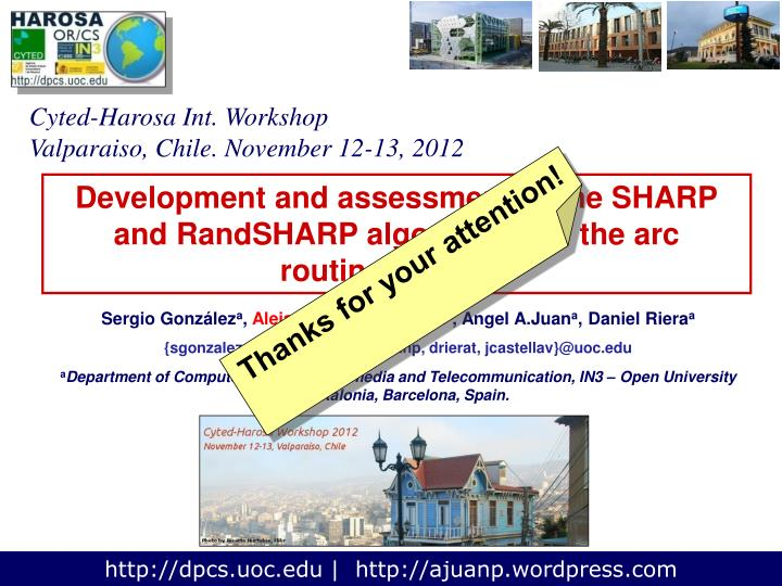 Cyted-Harosa Int. Workshop