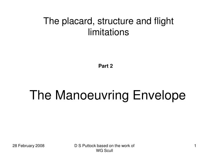 The Manoeuvring Envelope