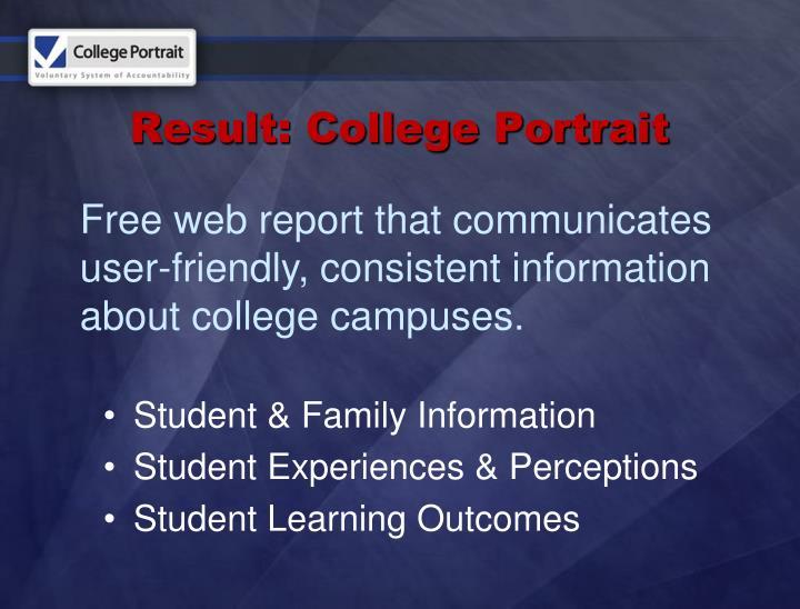 Result: College Portrait