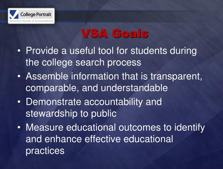 Provide a useful tool for students during the college search process