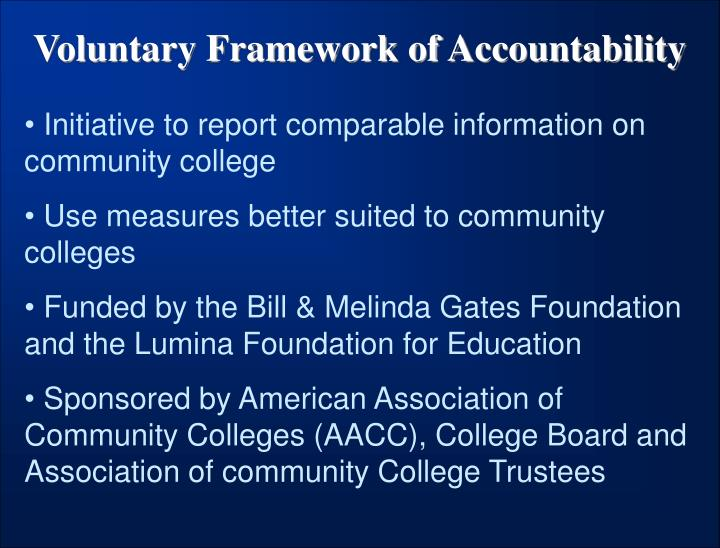 Voluntary Framework of Accountability
