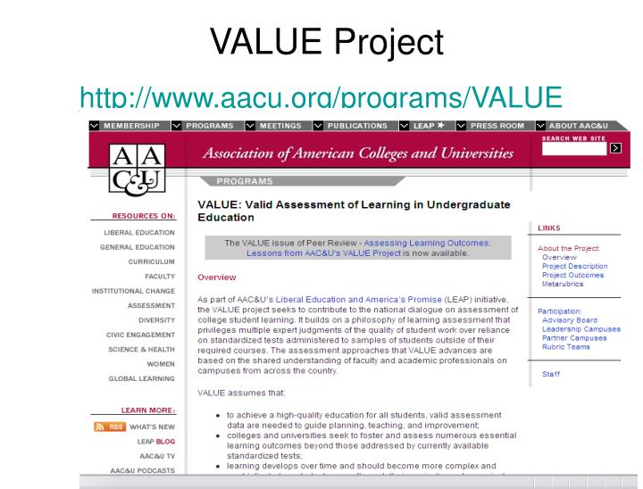 VALUE Project