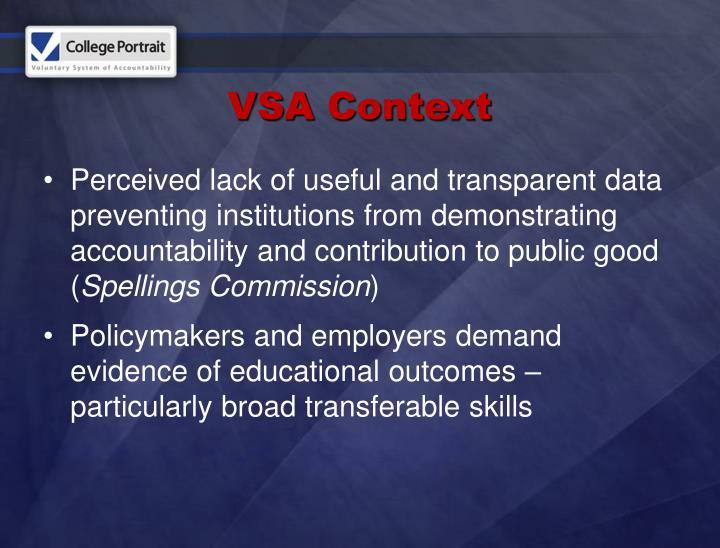 VSA Context