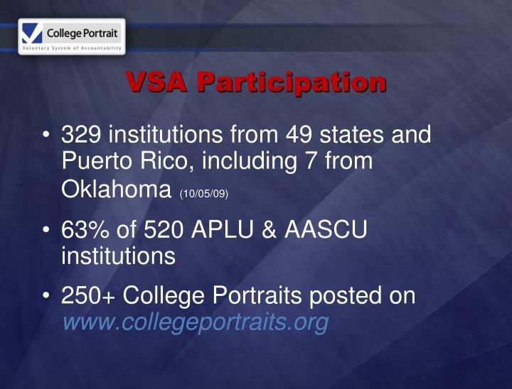 VSA Participation