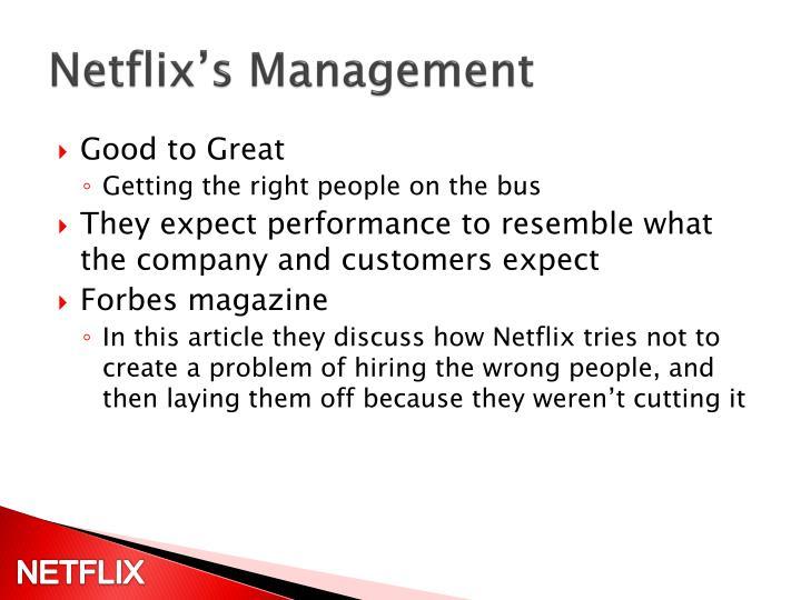 Netflix's Management