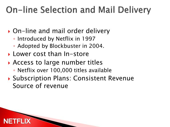 On-line Selection and Mail Delivery