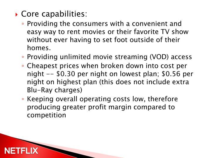 Core capabilities: