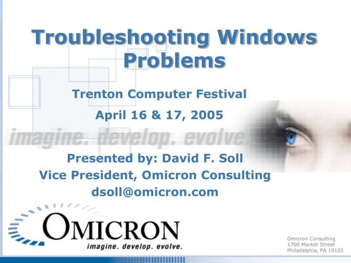 Troubleshooting windows problems
