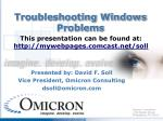 troubleshooting windows problems1