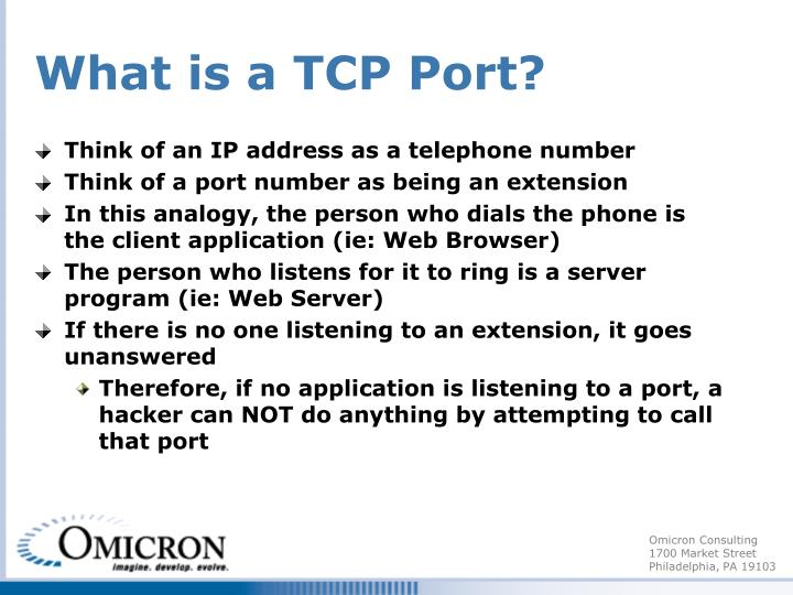 What is a TCP Port?